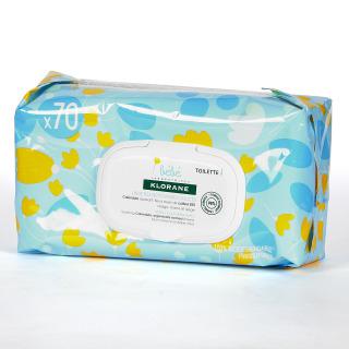 Klorane Bebé Toallitas Limpiadoras Suaves 70 unidades