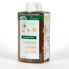 Klorane Capilar Champú Camomila Pack Duplo 2x400 ml