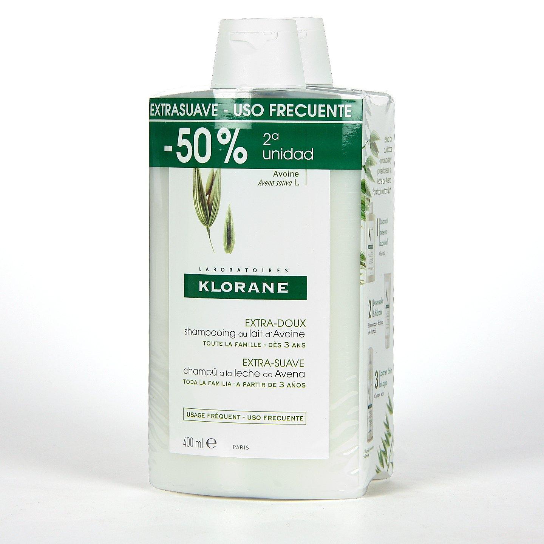 Klorane Capilar Champú Leche de Avena 200 ml | Farmacia