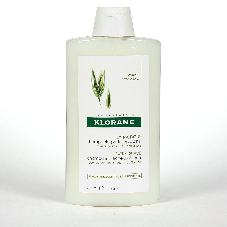 Klorane Capilar Champú Leche de Avena 2x400 ml Pack Duplo