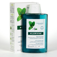 Klorane Capilar Champú Menta Acuática 200 ml