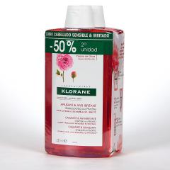 Klorane Capilar Champú Peonía 2x400 ml Pack Duplo