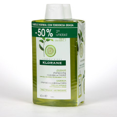 Klorane Capilar Champú Pulpa de Cidra 2x400 ml Pack Duplo