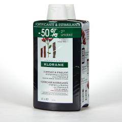Klorane Capilar Champú Quinina con Vitaminas B 2x400 ml Pack Duplo