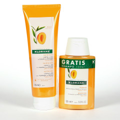 Klorane Capilar Crema de Día Sin Aclarado a la Manteca de Mango 125 ml +