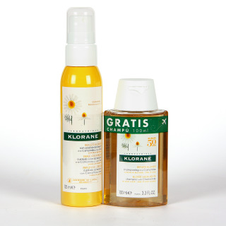 Klorane Capilar Cuidado Solar Aclarador Camomila  y Miel 125 ml + Champú camomila 100 ml Regalo