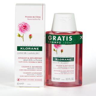 Klorane Capilar Sérum SOS a la Peonía 65 ml +  Champú a la Peonía 100 ml regalo