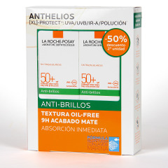La Roche Posay Anthelios XL Anti-Brillos Toque Seco SPF 50+ Duplo 2x50 ml