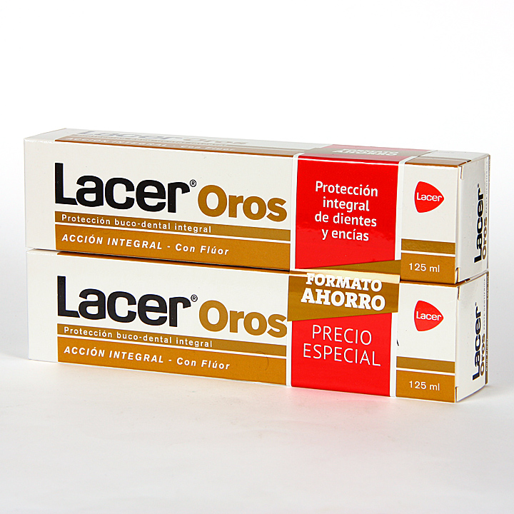 Lacer Oros pasta dentífrica 125 ml Pack Duplo