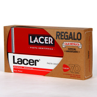 Lacer pasta dentífrica anticaries 125 ml + caja metálica de regalo