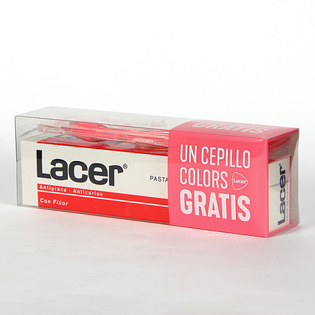 Lacer pasta dentífrica anticaries 125 ml + cepillo gratis