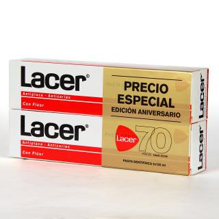 Lacer pasta dentífrica anticaries Duplo 125 ml + 125 ml