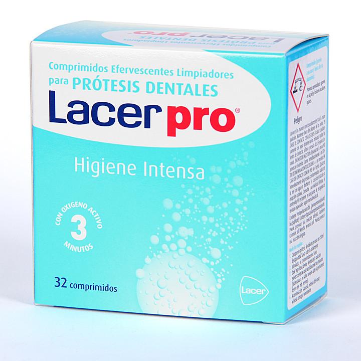 LacerPro Limpiador prótesis dentales 32 comprimidos
