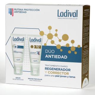 Ladival Dúo Antiedad Protector Antimanchas + Serum Regenerador