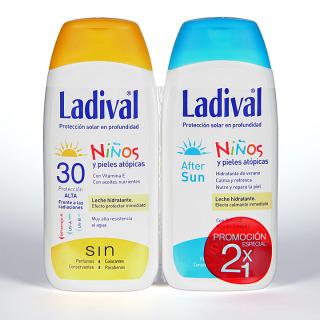 Ladival Niños y pieles atópicas SPF 30 200 ml + Ladival Aftersun 200 ml