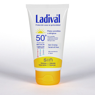 Ladival Pieles sensibles o alérgicas Gel-crema facial SPF 50+ 50 ml