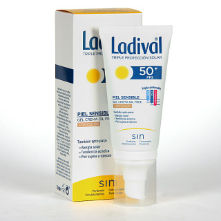 Ladival Pieles sensibles o alérgicas Gel-Crema facial con Color SPF 50+ 50 ml