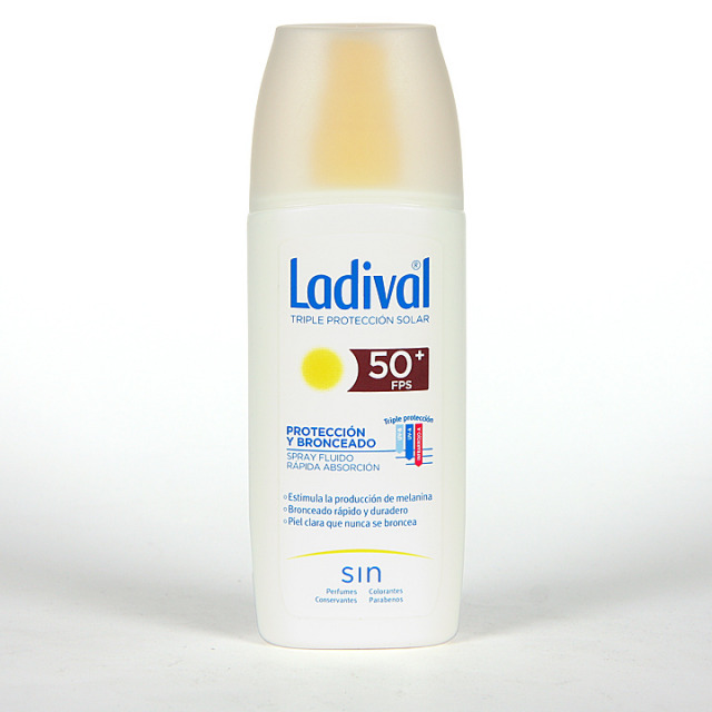 Ladival Protección y Bronceado Spray fluido SPF 50+150 ml
