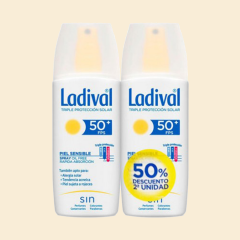 Ladival Spray Pieles sensibles o alérgicas SPF 50+ Pack ahorro 150 ml +150 ml