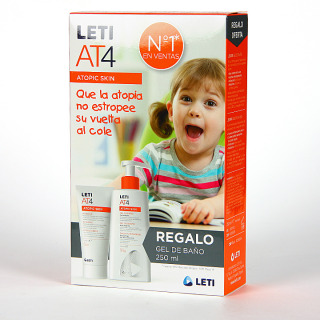 Leti AT4 Crema Intensive 100 ml + Gel de Baño 250 ml regalo