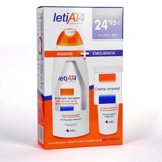 Leti AT4 Pack Gel de baño dermograso 750 ml + Crema corporal 200 ml