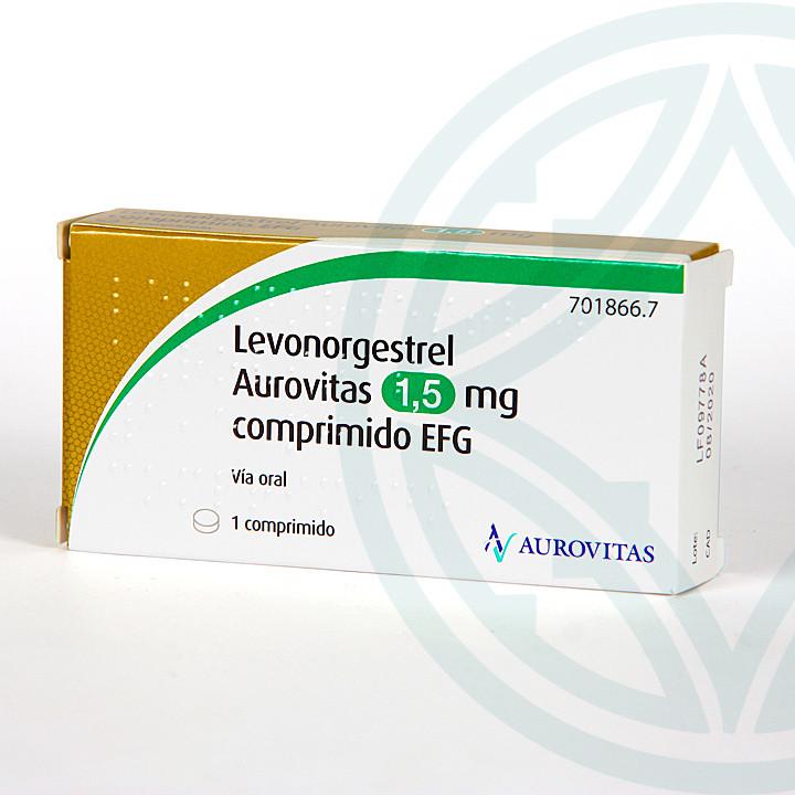 Levonorgestrel Aurovitas EFG 1.5 mg 1 comprimido