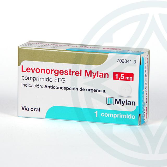 Levonorgestrel Mylan 1,5 mg EFG 1 comprimido