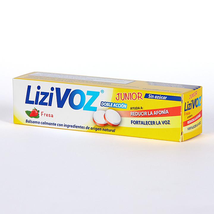 Lizivoz Junior Fresa 18 pastillas para chupar