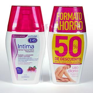 Lutsine E45 Intima gel de higiene íntima Preventivo 200ml Duplo
