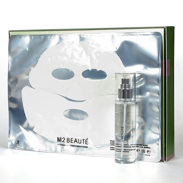 M2 Beaute Hybrid Second Skin Mask Brown Alga 5 Mascarillas Faciales