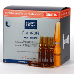 Martiderm Night Renew Platinum 30 + 5 Ampollas Regalo