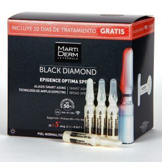 Martiderm Epigence Optima SPF 50+ Black Diamond 30 + 5 Ampollas de regalo