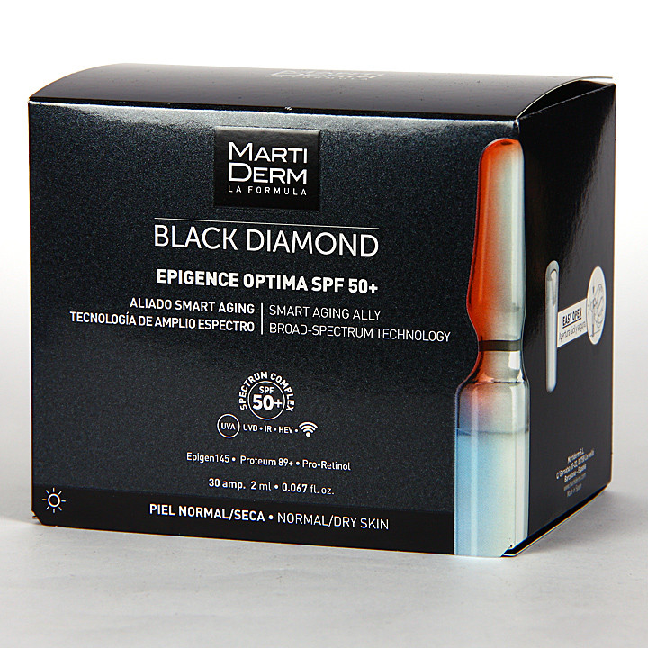Martiderm Epigence Optima SPF 50+ Black Diamond 30 Ampollas