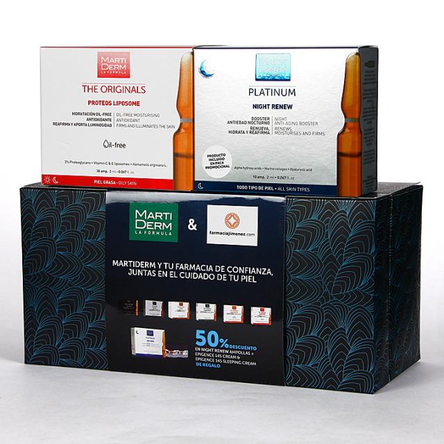 Martiderm Proteos Liposome 30 ampollas + Night Renew 10 ampollas 50% Pack