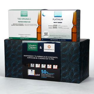 Martiderm Proteos Hydra Plus 30 ampollas + Night Renew 10 ampollas 50% pack