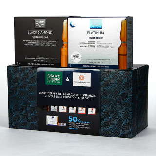 Martiderm Skin Complex 30 ampollas + Night Renew 10 Ampollas 50 % Pack