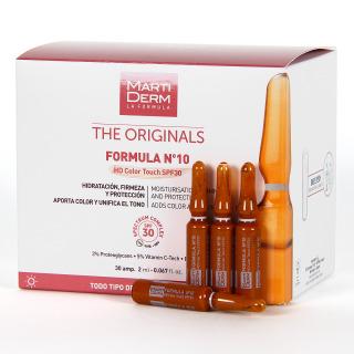 Martiderm The Originals Formula Nº10 SPF 30 HD Color Touch 30 ampollas