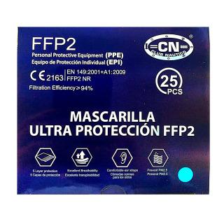 Mascarilla FFP2 Caja 25 Unidades Azul