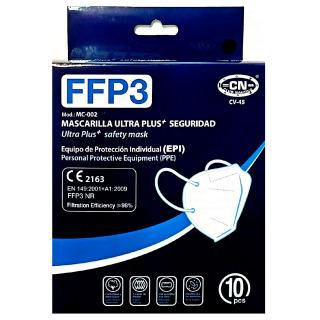 Mascarilla FFP3 Caja 10 Unidades Negro