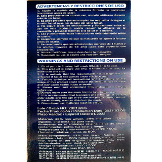 Mascarilla FFP3 Caja 10 Unidades Blanca