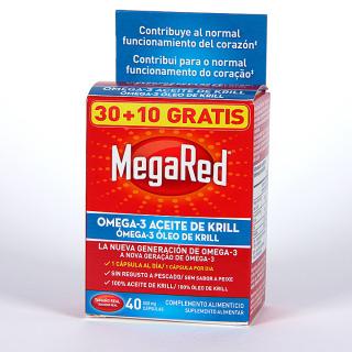 MegaRed Omega-3 promoción 30+10 cápsulas