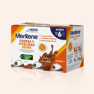 Meritene Drink Chocolate 6 botellas de 125 ml