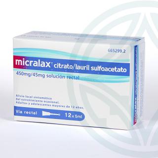 Micralax 12 enemas solución rectal