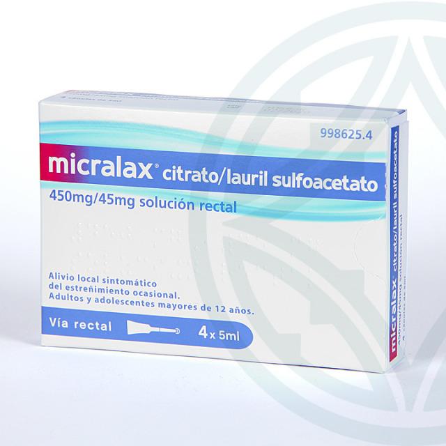 Micralax 4 enemas solución rectal