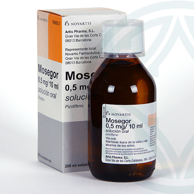 Mosegor 0,5 mg/ 10 ml solución oral 200 ml