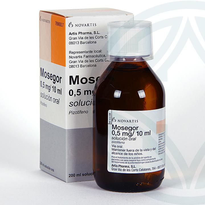 Mosegor 0,5 mg/ 10 ml solución oral 200 ml