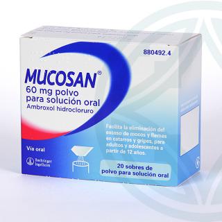 Mucosan 60 mg 20 sobres