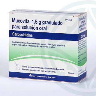Mucovital 2,7 g 20 sobres granulado