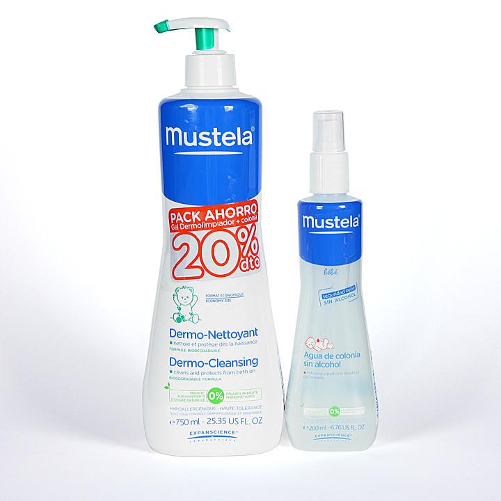 Mustela Gel Dermolimpiador + Agua de colonia Pack Ahorro