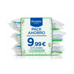 Mustela Toallitas Pack Triplo 70x3